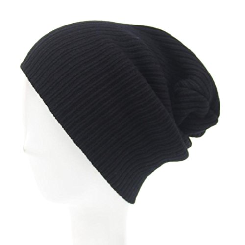 LCLrute Mode Winter Männer Frauen Beanie Knit Ski Cap Hip-Hop Winter Warm Unisex Wolle Hut (Schwarz) (Cashmere Beret Knit)