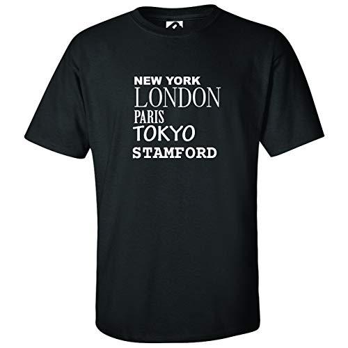 JOllify Stamford Kinder Junge Mädchen T-Shirt - Design: New York, London, Paris, Tokyo - Größe: 164-14-15 Jahre