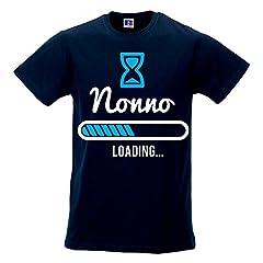 Idea Regalo - T Shirt Uomo Idea Regalo Festa dei Nonni Nonno Loading Blu XL