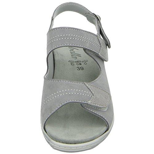 Grau 509 705 02 Damen Grau Komfort 5962 189 Sandalette scarbella xPqO8Fw