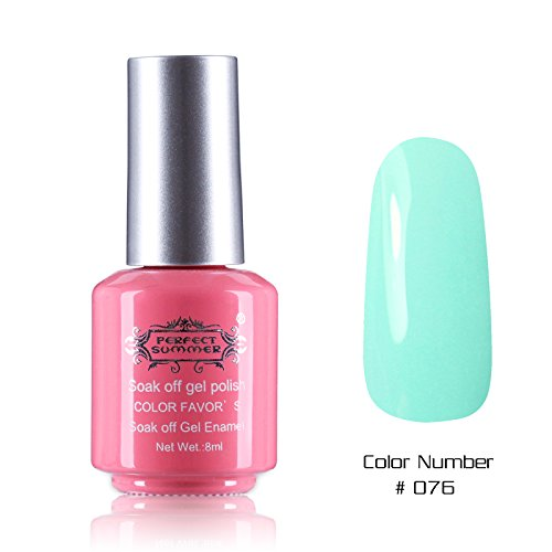 Perfect Summer 1PCS 8ml Vernis à Ongles Semi Permanent UV LED Soak Off Gel Polish Nail Art Manucure 8ml Couleur #76