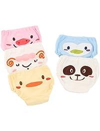 Joyo roy - Pack de 5 Unidades de Braguita de Algodón para Bebés Transpirable Cómodo con Cintura Elástica Braga Niñas con Estampado Lindo Underwear Infantil Calzoncillos para Niños - 1-4 Años