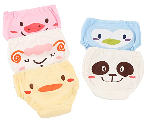 Joyo roy - 5 Piezas de Ropa Interior de Bebés Niños Underwear Baby Braguita de Algodón Transpirable con Cintura Elástica Confortable Estampado Lindo Lavable - 4 Años
