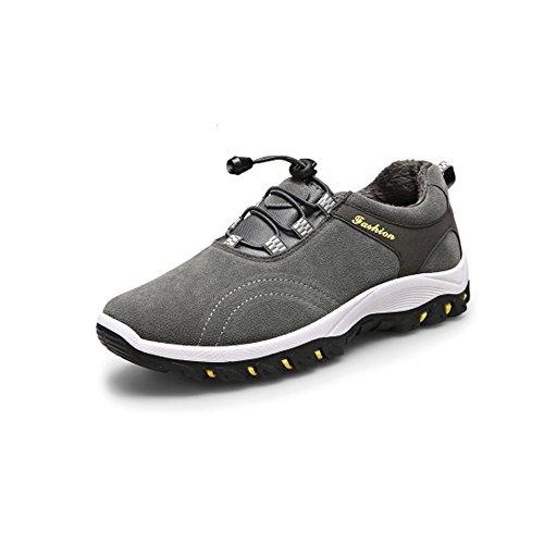 CHNHIRA Herren Sneaker Atmungsaktiv Sneakers Weiches Klettern Wandern Schuhe Sport, Grau - Grau - Größe: 42