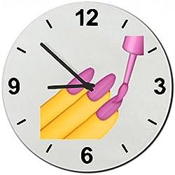 """Cristal reloj """"esmalte de uñas"""", regarder- Ø18- ø20- ø30- Smiley- Emoji- astuces de Navidad, cristal, 30 cm de diámetro"""