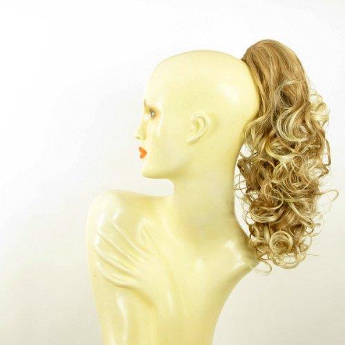 Postiche queue de cheval extension femme bouclée 40 cm blond clair cuivré méché blond clair ref 3 en 27t613
