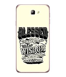 Samsung Galaxy On5 (2016), Samsung Galaxy On 5 Back Cover Blessed Is The Man Who Find Wisdom Design From FUSON