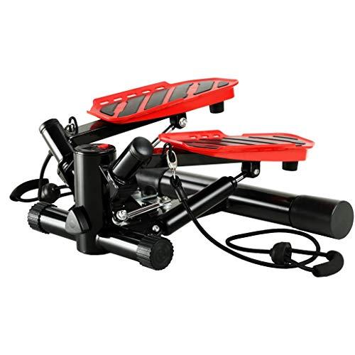 ghuanton Swing Stepper mit Widerstandsschnüren schwarz und rot Sportartikel Fitness Cardio Cardiogeräte Stepper