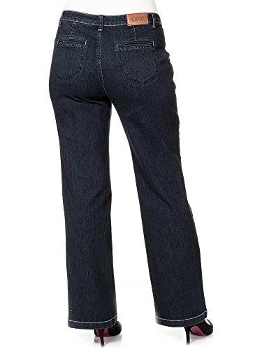 sheego Denim Damen Jeans Schwarzblau