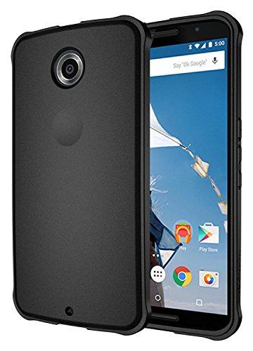 Diztronic NX6-VOY-BLK Vollmatte Ultra TPU Schutzhülle für Motorola Nexus 6 schwarz (Nexus 6 Slim Case)