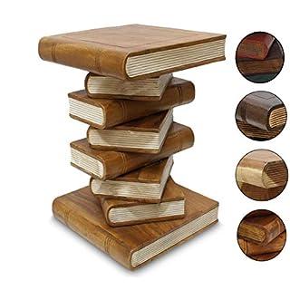 Bücherhocker Hocker Holzhocker Beistelltisch Nachttisch Buch Stapel 50cm Holz Akazie Hellbraun Creme Inkl. Südostasien Bildband als PDF Datei