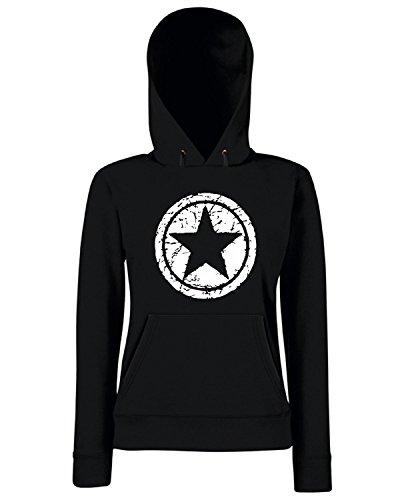 T-Shirtshock - Sweats a capuche Femme OLDENG00520 grunge star Noir