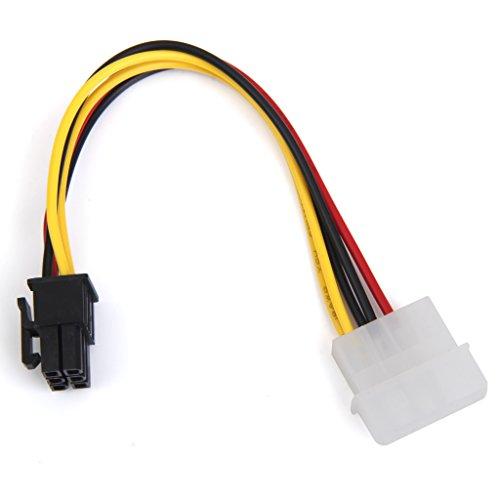 Sharplace 4-Pin Molex Männlich 6-Pin PCI Express PCIE Weiblich Leistung Adapter Grafikkarten-Stromkabel Adapter Strom Kabel