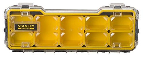 Stanley FatMax Profi-Organizer / Zubehörbox (zum Verstauen und Transportieren von Kleinteilen und Zubehör, hochtransparent, kratz-und schlagfest, stapelbar durch Seitenverriegelungssystem) FMST1-75781