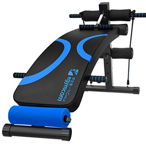 Einstellbare bogenförmige Abnahme Sit-up-Bank Crunch Board Übung Fitness Workout, über 180 ° Stretching, 360 ° Verdrehen, Ergonomisches Design, Blau (Stretching-board)