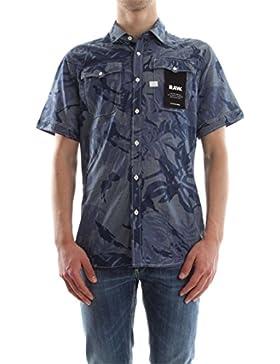 G-Star Herren Landoh Kurzarm Slim Fit Shirt, Blau