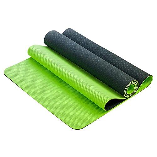 Yogamatte Tolina Yogamatte für Pilates Gymnastik TPE, Matte, rutschfest, umweltfreundlich hypoallergen und hautfreundlich ideal für Yoga Pilates und Fitness (GG)