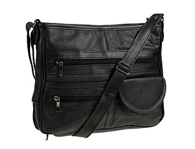 Sac à main REF3771 en cuir véritable - Noir - noir,