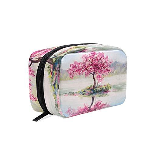 WowPrint Aquarell Sakura Muster Kosmetiktasche Kulturbeutel Multifunktional Reise organizer Waschen Tasche Make-up-Tasche Kulturtasche für Mädchen Jungen Damen Herren -