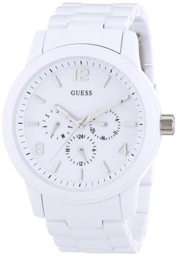 GUESS SPECTRUM POLISH WHITE W14059L1 - Reloj analógico de cuarzo para mujer, correa de plástico color blanco