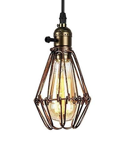 Buyee® Modern Vintage Industrial Opening and Closing Birdcage Loft Metal Fixture Brown Rustic Pendant Light fittings(Bronze, 1 pendant light+1