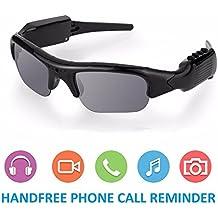 OOLIFENG Cámara Gafas Sol 1080P HD Grabadora Vídeo Bluetooth Vidrios Polarizados Para Grabación