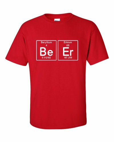 Periodic Beer Bier T-Shirt Rot