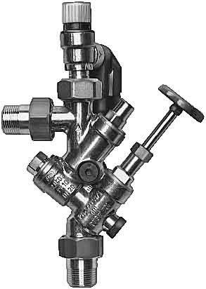 AEG 184419 AD 831 Ventilkombination ohne Druckminderer bis 4,8 bar für Warmwasser Standspeicher