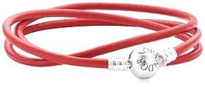 Pandora Damen-Armband 925 Sterling Silber dreifach Länge 61 cm 590714CRD-T3