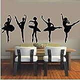 Lvabc Wall Sticker Ballet Dance Home Girls Kids Women Door Windows Poster Mural Removebale Decor 49X109Cm