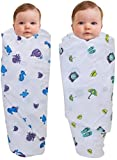 #2: PEUBUD Cotton Cloth Swaddle/wrap/Blanket for New Born(100X100 cm)(Pack of 2)(0-12 Months)