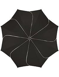 Pierre Cardin Paragua plegable, negro blanco (negro) - 82268