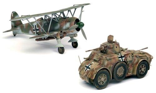 Autoblinda ab41 + cr42 lw kit 1:48 - italeri - kit mezzi militari - kit di montaggio