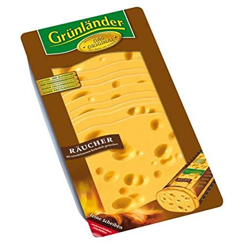 Grünländer Räucher halbfester Schnittkäse, 48 {154fbd6865e40f2e7bfed6c77d7b20bba23abceaa17feab7ca0ce3253987446f} Fett i. Tr. 500 g Packung