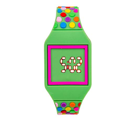 LIYANGEP Green Touch Screen Rubber Student Watch Clock Boy Girl Watch Gift Green Touch Screen