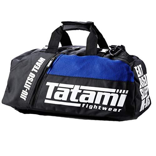 Tatami Sporttasche Jiu Jitsu Gear Bag Schwarz/Blau - Sporttasche Trainingstasche Jiu Jitsu BJJ MMA Kampfsport Fitness Sport Tasche - auch als Rucksack verwendbar
