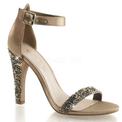Fabulicious, Sandales Femme Gold (bronze Satin)