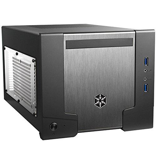 SilverStone SST-SG07B-W USB 3.0 - Sugo Mini-ITX kompaktes Cube Gehäuse mit 600W Netzteil und Fenster, schwarz