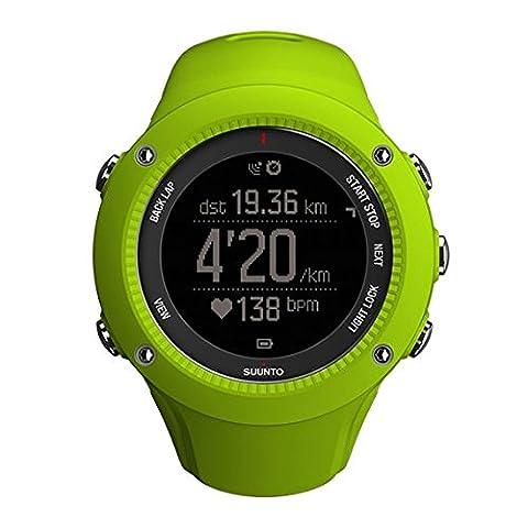 Suunto SS021260000 Ambit3 Run Montre GPS Lime