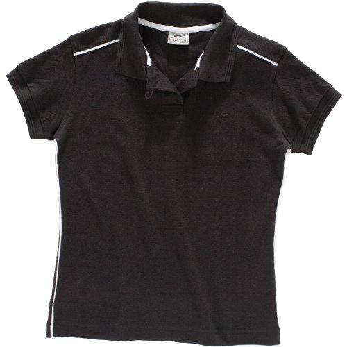 SLAZENGER Polo Backhand femme noir/blanc