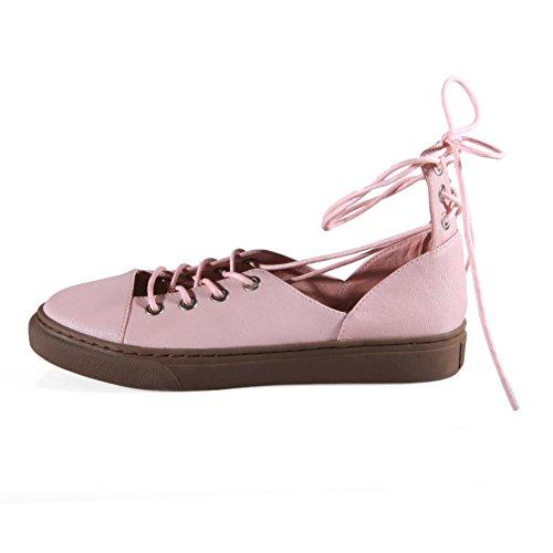 Simple Chaussures Printemps/été,Cuir Plat Tête Ronde Bracelet Chaussures,Sandales Décontractée Etudiant A