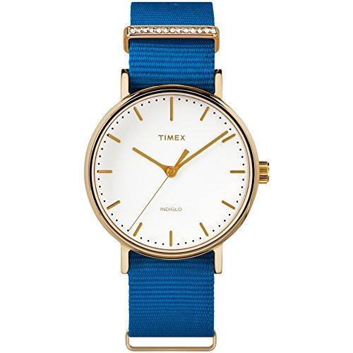 Timex Reloj Analógico para Mujer de Cuarzo con Correa en Tela TW2R49300VQ