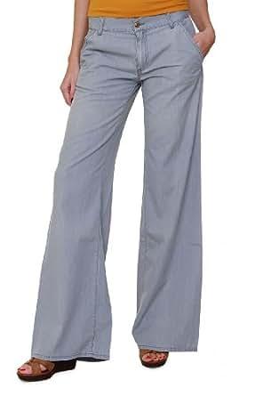 hugo boss damen jeans wide leg micaela farbe grau gr e. Black Bedroom Furniture Sets. Home Design Ideas