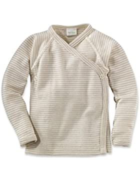 hessnatur Baby Baby Unterhemd Wickelhemd Langarm - 70% Bio Merinowolle 30% Seide - geringelt unisex Mädchen und...