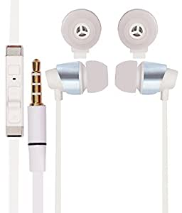 DEEP GLOBAL 3.5mm In Ear bud Stereo Earphones Mini Size HeadSet Headphone Handsfree With Mic COMPATIBLE with Intex Aqua Y2