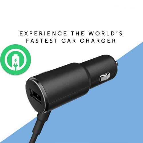Turbo Power 25W Motorola Moto X Pure Edition (2015) Car Charger with EXTRA USB Port and Long Hi-Power MicroUSB Cable!