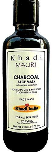 Clear Skin Behandlung Serum (Mask Khadi Charcoal Face - Bietet Clear & strahlende Haut - Herbal Transparent-Greyish Gesichtsmaske mit Charcoal Eigenschaften - 210 ml - (Verpackung aufgrund neuer Ankunft variieren kann))