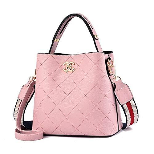 Czhjg zaino primavera moda tendenza borsa femminile spalla selvaggia tracolla pu femminile borsa rosa