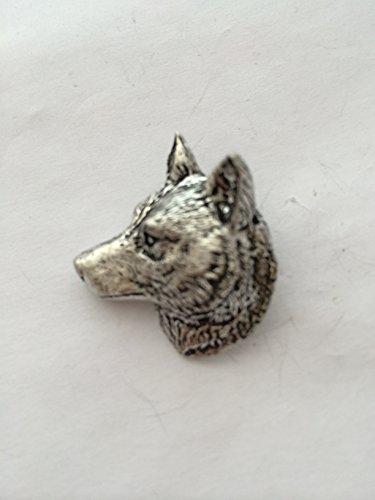 A66Wolf Kopf Pin Badge feines englisches Zinn Pin Badge mit prideindetails Geschenk-Paket