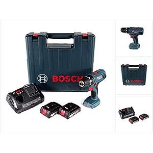 Bosch Professional GSR 18V-21 Akku Bohrschrauber 18V 55Nm (06019H1070) + 2x Akku 2,0Ah + Ladegerät + Koffer